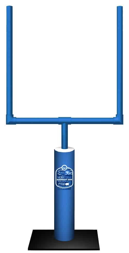 football goal post display