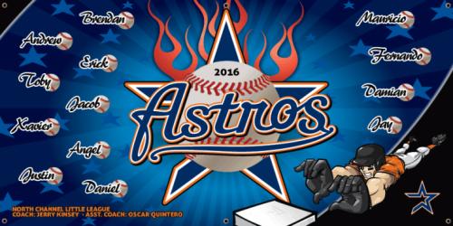 Astros, 6'x3'  - 200