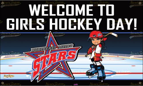 Girls Hockey League Banner - 025